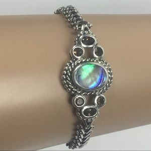 Jewelry - Native American 925 Silver and Abalone Bracelet